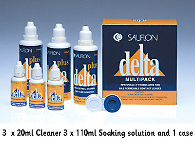 Sauflon Delta 3 month Multipack 3x 20ml Cleaner 3x 110ml Soaking solution 1 case