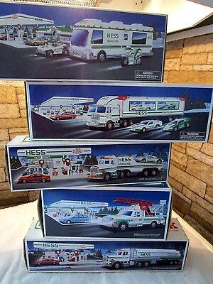 Hess Truck Lot 1990,1991,1994,1997,1998 Mint In Box (5)
