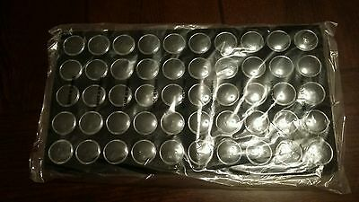 1 New Black Foam Tray 50 Jars Containers Gems Stones Rocks Coins Jewelry Making