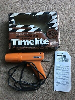 Gunson' s Timelite  Classic Car Neon Timing Light  VGC