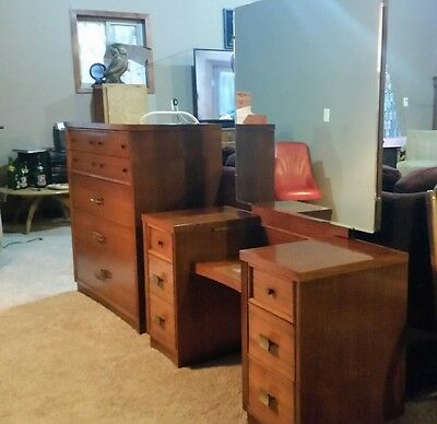 Mid Century Modern Vanity Mirror and Dresser Made By Mengel Man
