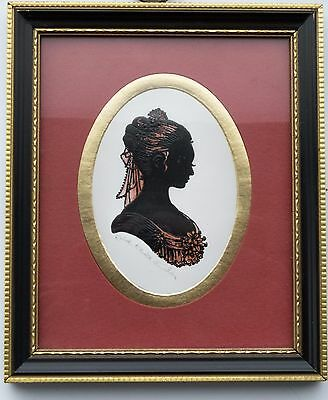 2 signed and framed Silouettes by Enid Elliot Linder