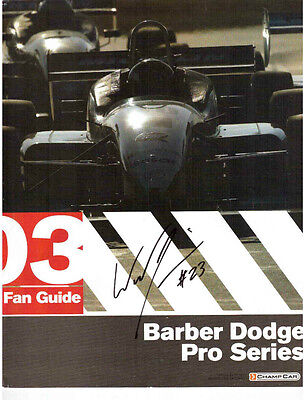 Barber Dodge Pro Series 2003 Program Autographed By 8 Racing Drivers !!