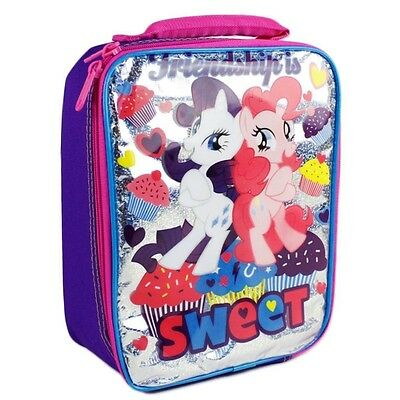 MY LITTLE PONY PINKIE PIE & RARITY Upright Insulated Lead-Free Lunch Tote Box