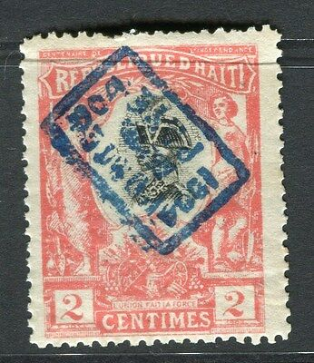 HAITI;   1904 Cent. Independence Optd. issue Mint hinged 2c. value