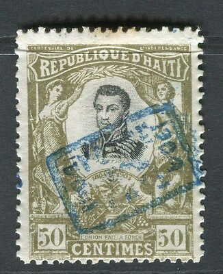 HAITI;   1904 Cent. Independence Optd. issue Mint hinged 50c. value