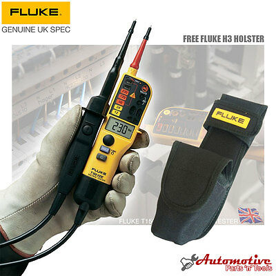 Fluke T150 With H3 Holster Voltage & Continuity Electrical Tester 6v-640v