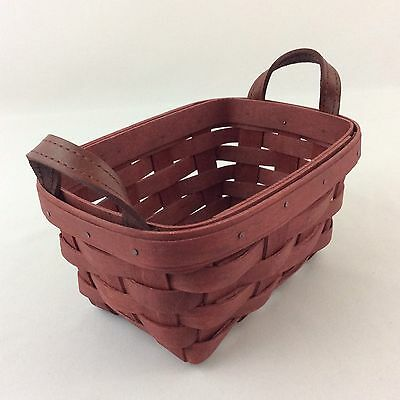 Longaberger 2006 Red Tea Basket Leather Handles