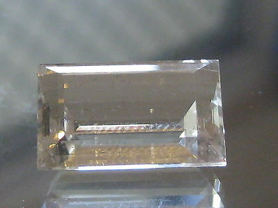Rock Quartz,9,85 ct Precision cut Australian Natural Gemstone,clear
