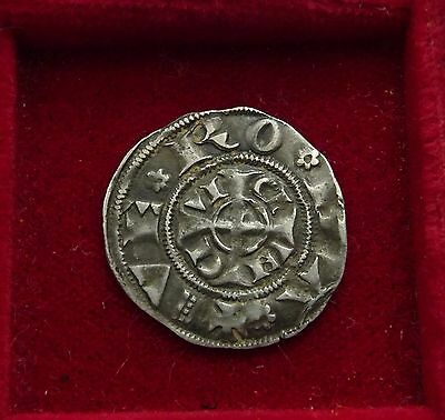 France crusader /post era coin silver 1100-1300 crosses both sides