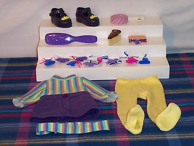 Playmates Amazing Ally Doll Clothes Brush Shoes Dress Cake Cartridge Barrettes