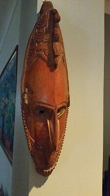 Vintage Papua New Guinea MASK Wood Carving Tribal ARTEFACT