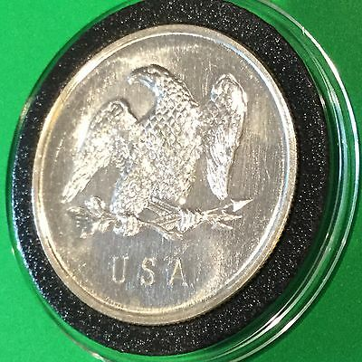 High Relief Eagle & Indian Chief Vintage 1 Troy Oz .999 Fine Silver Round Coin