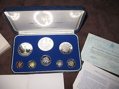 First National Coinage of Barbados 1973 Proof Set from Franklin Mint