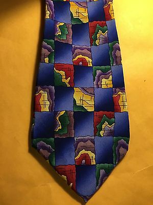 COCKTAIL COLLECTION Blue Yellow Red Green Scotch Suit Tie 9#
