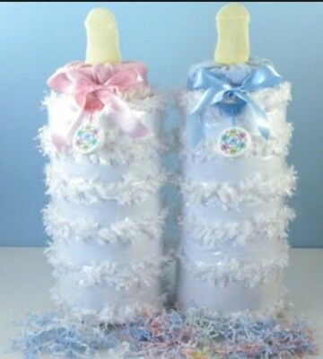 diaper cake pink bottle