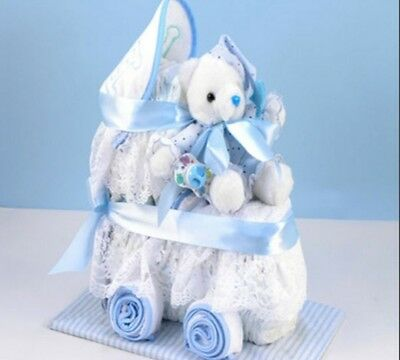 baby diaper cake crib boy