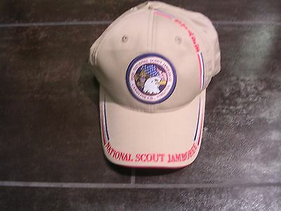 2005 National Jamboree Official Staff Cap, Tan w/ Embroidering, Mint!