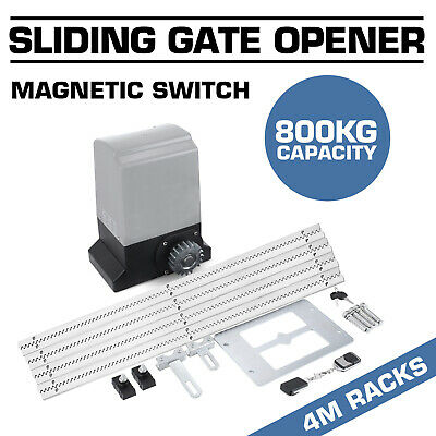 800KG Sliding Gate Opener Automatic 4m Rail Reliable Soft Opening Wireless