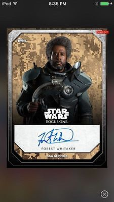 Topps Star Wars Digital Card Trader Rogue One Signature Saw Gerrera Insert