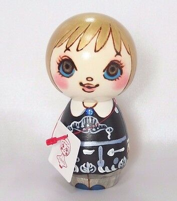 ANNA SUI Wooden Doll Cokets Type B Hand-Painted Kokeshi Kawaii