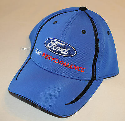 Ford Performance Logo Mens Blue Black Embroidered Cap One Size New