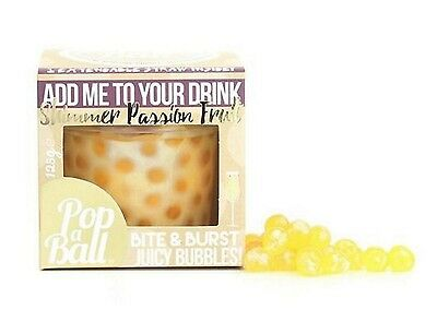 Popaball Bursting Bubbles Shimmer Passion Fruit Flavour Prosecco Drink Extras