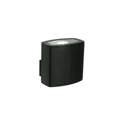 Saxby Rossi Die Cast Aluminium Black 10W COB LED IP44 Outdoor Wall Light