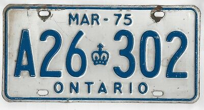 ONTARIO CANADA CANADIAN AMERICAN LICENSE NUMBER PLATE #On