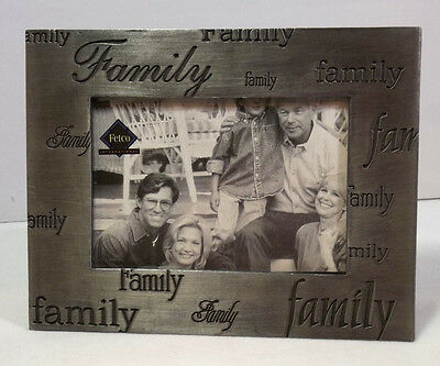 """ Family "" A Pewter Standing Picture Frame"