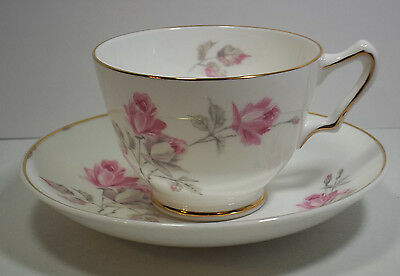 "Vintage Crown Staffordshire Fine Bone China Cup & Saucer in Pattern""Tudor Rose"""