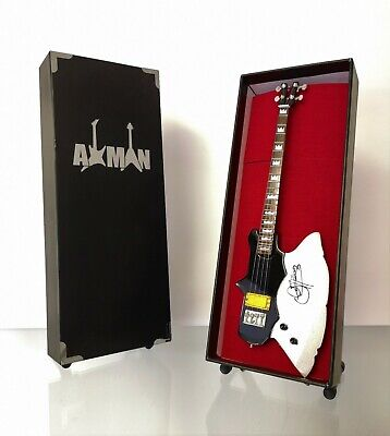 Miniature Guitar Replica: Gene Simmons Kramer Axe Bass (UK Seller)