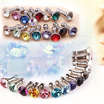 2set 3.5Mm Crystal Dust Plug Earphone Jack For Iphone 5S 4S 6 6S/plus