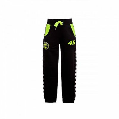 Official VR46 Valentino Rossi MotoGP Classic The Doctor Kid Fleece Pants - Black