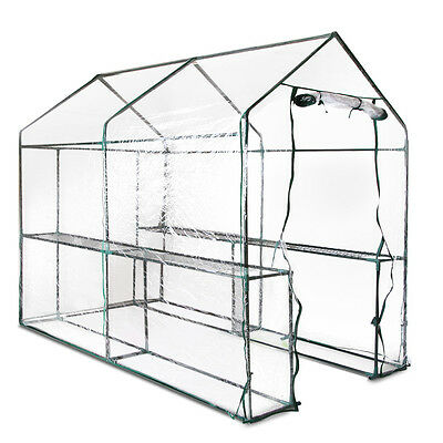 Greenhouse with Transparent PVC Cover - 1.9M x 1.2M Brand New