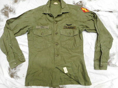 GENUINE ORIGINAL US ARMY issue UTILITY fatigue SHIRT VIETNAM WAR PILOT AVIATOR
