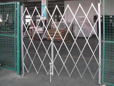 Folding Gate,Single,8 to 9ft Wx7-1/2ft H