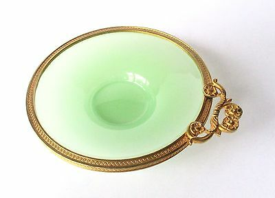 Antique French Gilt Bronze-Mounted Glass Dish