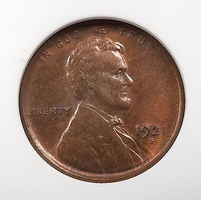 1921 S Lincoln Cent certified MS 65 RB by ANACS!