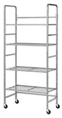 ZORO SELECT 5418-3 Storage Rack,Nonlocking,Wire/Tubing,Slvr