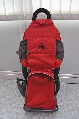 Vaude Swing Baby Carrier Backpack Red & Grey Hiking Walking Child USED Good Cond