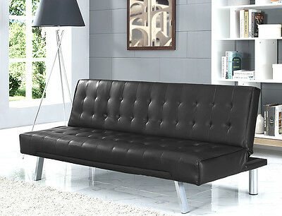 Modern Designer Sofa Bed Faux Leather With Optional USB Bluetooth Speaker Unit