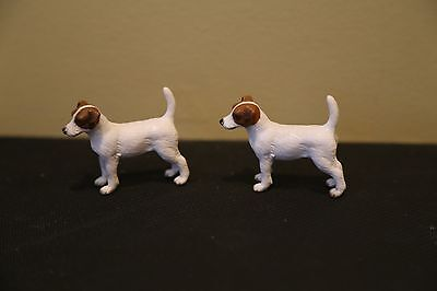 Schleich Lot of 2 Jack Russell Terriers, retired in 2009