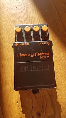 BOSS HM-2 Heavy Metal Guitar Effects Pedal Made In Taiwan