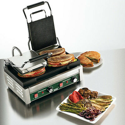 Waring WPG300 Panini Ottimo Grooved Dual Style Panini Sandwich Grill 240 Volt