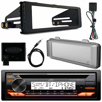 KD-X33MBS Bluetooth Marine USB Radio, 98-13 Harley Scosche Install Adapter Kit