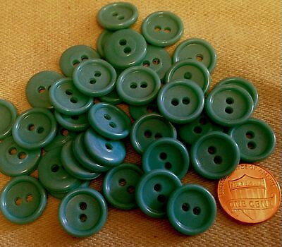 """Lot of 24 Blue Plastic Buttons 5/8"""" 15.5mm # 7116"""