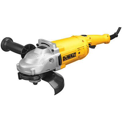 "DEWALT 7"" 8,000 RPM 4 HP Angle Grinder with Trigger Lock-On DWE4517 New"