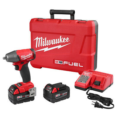 "Milwaukee M18 FUEL 18V Li-Ion 3/8"" Compact FR Impact Wrench Kit 2754-22 New"