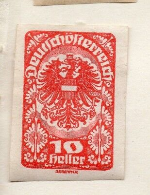 Austria 1919 Early Issue Fine Mint Hinged 10h. 154860